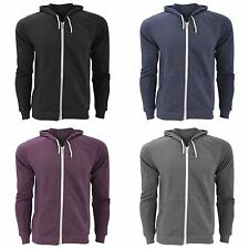 FLOSO Mens Zip Slim Fit Hooded Sweatshirt / Hoodie 240 GSM (British Made)