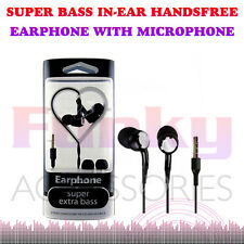 Superior Extra Bass Stereo Studio Sound In Ear Hands Free Headset Earphones+Mic