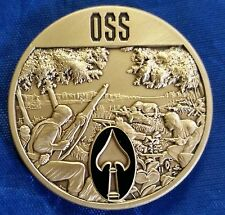 "Glorious Amateurs Office of Strategic Services OSS CIA WWII w Spear 1.75"" Coin"