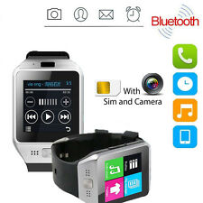 JV08S DZ09 Bluetooth Smart Watch For Android Samsung iPhone iOS +Camera SIM Slot