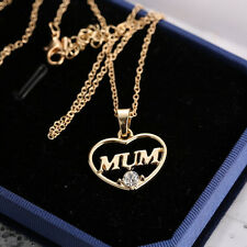 Fashion Womens Jewelry Mother's Day Mum Gift Gold Heart Chain Pendent Necklace