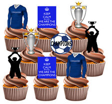 Leicester City Champions Football Party Pack Fun Fully Edible Cup Cake Toppers
