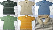 *NEW Patagonia 100% Organic Cotton Striped Polo Shirt Short-Sleeve Golf Men's M