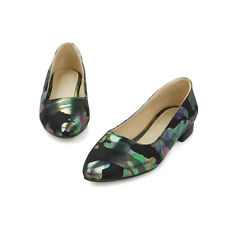 Synthetic Leather Comfort Block Low Heel Shoes Sweet Women Shoes UK Size s853