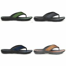 Mens Slip On Netted Front Striped Flip Flop Casual Sandals Summer Shoes