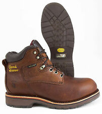 "Chippewa Country 25223, Brown Leather 6"" USA ST WP Work Boot"