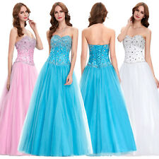 Sexy Strapless Long Bridesmaid Formal Dress Party Cocktail Evening Prom Wedding