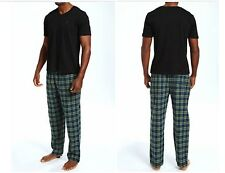 NEW Men's Nautica Seaborne Short Sleeve Tee + Flannel Pants Pajama Set PJ3442 LG