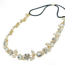 Fashion Chic Elastic Metal Rhinestone Head Chain Headband Head Hair Band Gift