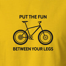 New Funny Cycling Jersey T-shirt Put The Fun Between Your Legs cycling clothing