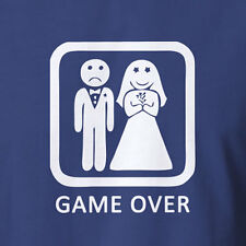 Funny T-shirt Game Over marriage wedding gift for him bachelor party bucks night