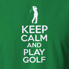 Golf T-shirt Gifts Keep Calm And Play Golf Clothing ALL SIZES tee tees  5XL