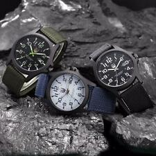 Mens Outdoor Date Stainless Steel Military Sports Analog Quartz Army Wrist Watch