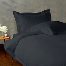BRAND NEW 1000TC 100% COTTON GREY SOLID BEDDING SETS CHOOSE DESIRED ITEM & SIZE