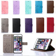 Retro Flower Pattern PU Leather Wallet Card Stand Case Cover For iphone ipod 5 6