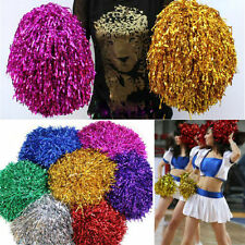 2Pcs Pom Poms (Pair) Cheerleader Cheerleading Cheer Pom Pom Dance Party Decor EF