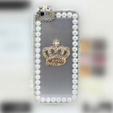 Luxury 3D Bling Rhinestone Diamond Hard Case Cover for Apple iPhone (PrlFrame)