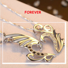 Modern Vogue Stainless Angel Wings Pendant Necklace For Men Women Couple Lover