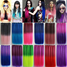 Colored Clip in Hair Extensions Highlight Hair Clip in on Colorful Hair Pieces