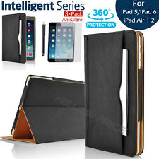 Magnetic Leather Wallet Case Cover + Screen Protector for iPad Air/iPad Air 2