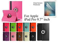"""For iPad Pro 9.7"""" Screen Protector/ Rotating PU Leather Case Cover"""