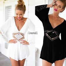 Sexy Summer Women One-Piece Playsuit Bodycon Party Jumpsuit Romper Shorts LM