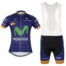 Movistar Cycling Jersey and Bib Shorts Set 2016 new