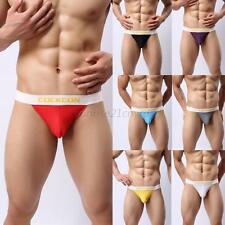 Mens Soft Mesh Holes Briefs Underwear Boxers Underpants Low Rise Jockstrap M-XXL