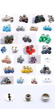 500 Complete Sets 15mm Press Studs Snaps Poppers Fastenings in Silver 27 Colours