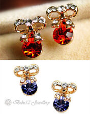 Bowknot Crystal Stud Earring/Rose Gold Plated Swarovski Elements/RGE270/073