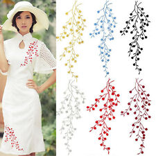 Beautiful Embroidered Plum Blossom Flower Patch Sew on Applique Motif Craft CN
