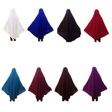 Muslim Women Prayer dress Large Long Overhead Abaya Jilbab Islam Clothes Attire