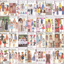 OOP McCalls Sewing Pattern Childs Toddlers and Little Girls Outfits You Pick