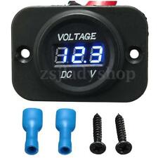 New 12-24V Waterproof Car Motorcycle Blue LED DC Digital Display Voltmeter Meter