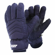 Mens Padded Waterproof Thinsulate Thermal Ski Gloves With Palm Grip