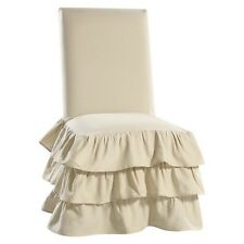 Ruffle 3-Tiered Dining Room Chair Slipcover