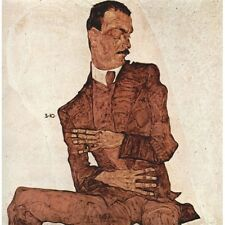 1910 Egon Schiele Portrait Of Arthur Rossler Painting New Poster Reproduction