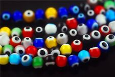 6mm 8mm 10mm Round Colorized Eyes Millefiori Glass Bead Findings Free Shipping