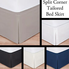 Branded 800 Thread Count Egyptian Cotton Solid Drop Length Tailored 1PC BedSkirt