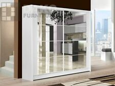 Sliding Door Wardrobe Brand New Modern Bedroom  DAKO DAKOTA WHITE
