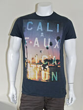 Mens New FRIEND OR FAUX Califauxnication Print T-Shirt - Navy - XXL