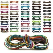 13 Color 10/12m Waxed Cotton Cord String Bracelet Necklace Jewelery Making 2mm