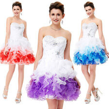 Tutu Short/Mini Cocktail Party Dresses Homecoming Formal Bridesmaid Prom Dress