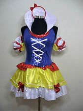 Sexy Princess Snow White Fairy Tail Dress Complete Costume Halloween Size XL L M
