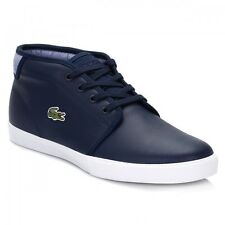 Lacoste Mens Trainers Navy Blue Ampthill Lace Up Leather Comfort& Support