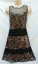 BNWT NEXT new RRP85  GERI Ladies Gold Black Shift Party ocassion dress size 10