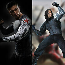Captain America Winter Soldier James Buchanan Barnes Bucky Long Sleeves T-Shirts