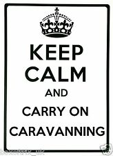 KEEP CALM AND CARRY ON CARAVANNING - Wall Art Vinyl Sticker 17 Colours 2 Sizes