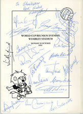England 1966 25th Anniversary Dinner Prog SIGNED 21 AUTOGRAPHS inc Bobby Moore