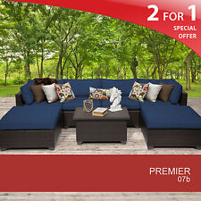 Premier 7 Piece Outdoor Wicker Patio Furniture Set 07b 2 for 1